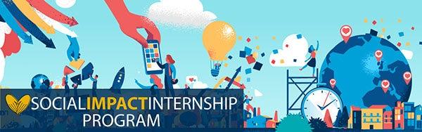 Social Impact Internship Program banner
