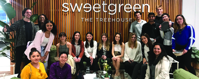 Georgetown students at Sweetgreen