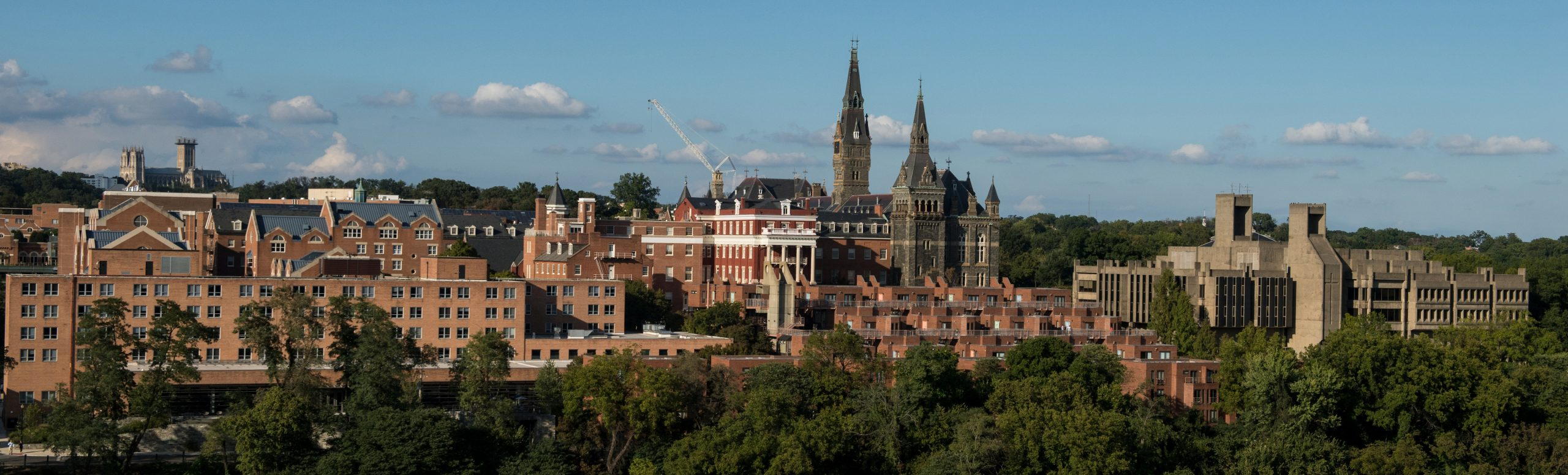 Long distance photo of the Georgetown University campus